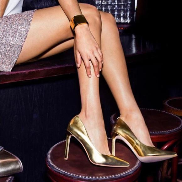 478bf2337d26 Nine West Shoes | Sale Tatiana Gold Metallic Heels | Poshmark